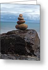 Pebble Sculpture Greeting Card by Richard Thomas