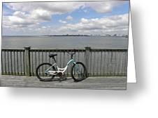 Pedal Pusher Greeting Card by Diane Barrett