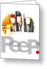 Peeping Greeting Card by Ricky Sencion