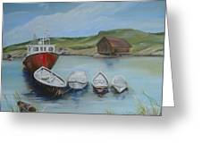 Peggy's Cove Greeting Card by Joyce Reid