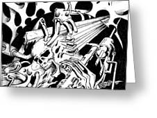 Pencil and Ink 38 2011 Greeting Card by Frank G