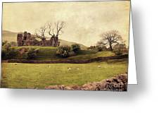 Pendragon Castle Greeting Card by Linde Townsend