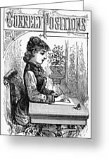 Penmanship Manual, C1880 Greeting Card by Granger
