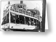 People Fleeing Galveston After Flood - September 1900 Greeting Card by International  Images