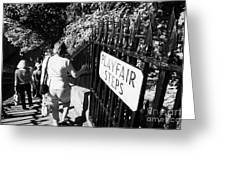 People Walking Down The Playfair Steps Down Into Princes Street Gardens Edinburgh Scotland Uk United Greeting Card by Joe Fox