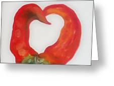 Pepper Heart Greeting Card by Joni McPherson