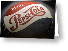 Pepsi Sign Greeting Card by Bob Nardi