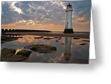 Perch Rock Lighthouse Greeting Card by Wayne Molyneux