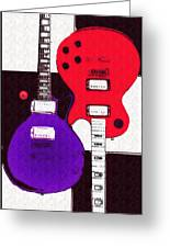 Perfect Fit -   Les Paul Greeting Card by Bill Cannon