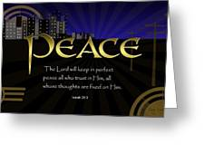 Perfect Peace Greeting Card by Greg Long
