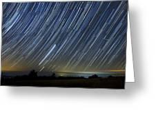 Perseid Smoky Mountain Startrails Greeting Card by Daniel Lowe
