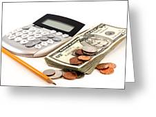 Personal Finance And Accounting Greeting Card by Blink Images