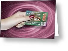 Personal Id Card Greeting Card by Victor Habbick Visions