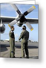 Personnel Conduct A Pre-flight Briefing Greeting Card by Stocktrek Images