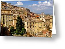 Perugia Italy - 01 Greeting Card by Gregory Dyer