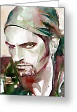 Peter Steele Portrait.6 Greeting Card by Fabrizio Cassetta
