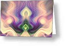 Petition In Pink And Purple Greeting Card by Linda Phelps