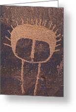 Petroglyph Closeup Greeting Card by Rich Reid