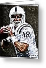 Peyton Manning 18 Greeting Card by Paul Ward