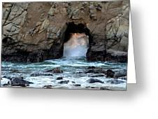 Pfeiffer Rock Big Sur 2 Greeting Card by Bob Christopher