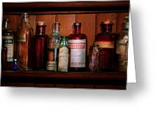 Pharmacy -  Oils And Inhalants Greeting Card by Mike Savad