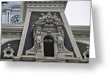 Philadelphia City Hall Window Greeting Card by Bill Cannon