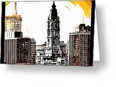 Philadelphia Poster Greeting Card by Bill Cannon
