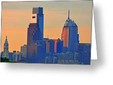 Philadelphia Sunrise Greeting Card by Bill Cannon