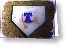 Phillies Home Plate Greeting Card by Bill Cannon