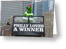 Philly Loves A Winner Greeting Card by Alice Gipson