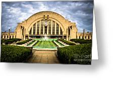 Photo Of Cincinnati Museum Center  Greeting Card by Paul Velgos