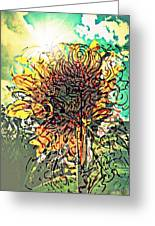Phototropism Solitary Greeting Card by Paulo Zerbato