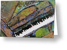 Piano Aqua Wall - cropped Greeting Card by Anita Burgermeister