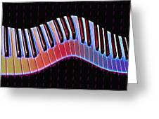 Piano Roll Greeting Card by Bill Cannon