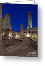 Piazza Duomo At Dusk Greeting Card by Rob Tilley