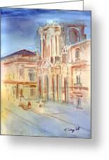 Piazza Duomo Greeting Card by Rene Ury