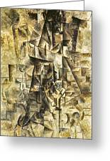 Picasso: The Accordionist Greeting Card by Granger