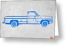 Pick Up Truck Greeting Card by Naxart Studio