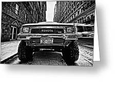 Pick Up Truck On A New York Street Greeting Card by John Farnan