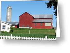 Pickett Fence Greeting Card by John Turner