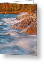 Pictured Rocks Lake Superior Greeting Card by Dean Pennala