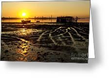 Pier At Sunset Greeting Card by Carlos Caetano