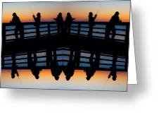 Pier Fishing At Dawn Greeting Card by Betsy C  Knapp