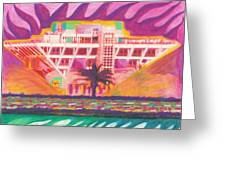 Pier In The Pink Greeting Card by Sheree Rensel