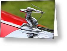 Piere-arrow Hood Ornament Greeting Card by Garry Gay