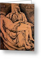 Pieta Study Greeting Card by Otto Werner