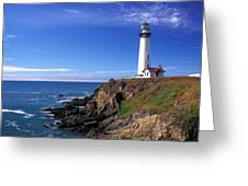 Pigeon Point Lighthouse 2 Greeting Card by Kathy Yates