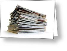 Pile Of Magazines Greeting Card by Carlos Caetano