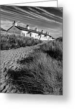 Pilots Cottages Greeting Card by Adrian Evans