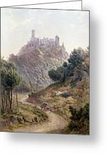 Pina Cintra Summer Home Of The King Of Portugal Greeting Card by George Leonard Lewis